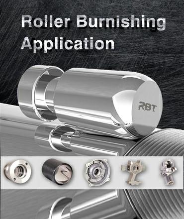 Applications de l'outil de galetage pour rouleau RBT