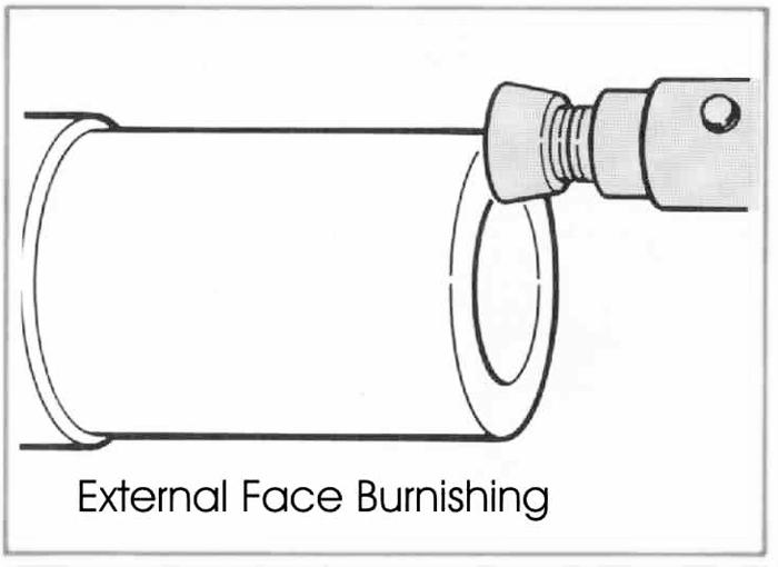 RBT Multi-Oberflächen-Anwendung Rollierwerkzeuge Extern Face Burnishing