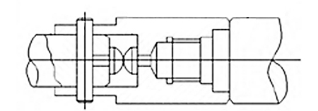 FIG. 1 The clamping diagram of roller burnishing tools